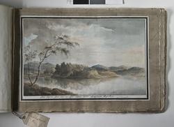 """Album med titeln """"Resan till Dalarna 1794"""". Akvareller utför"""