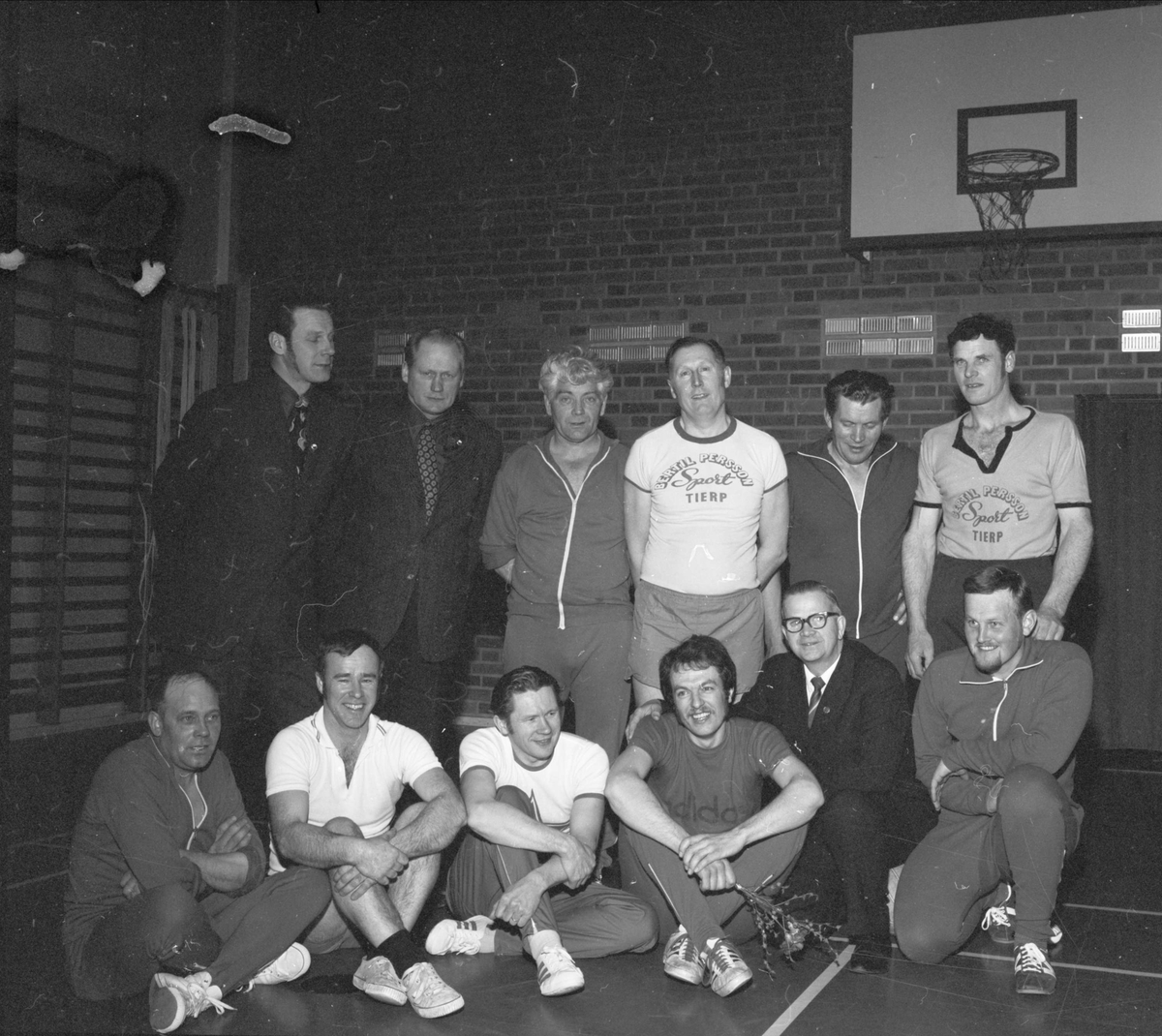 Ullfors motionsgymnastik, Ullfors, Tierps socken, Uppland april 1973