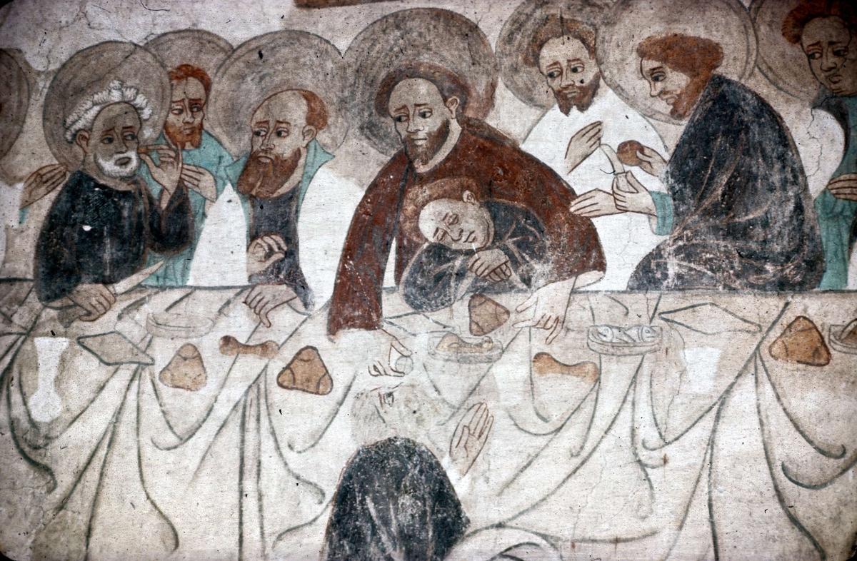 Kalkmålning i Tensta kyrka, Tensta socken, Uppland