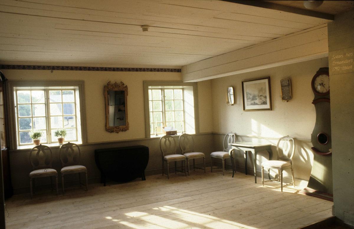 Ernanders sal i utställningen Vårt Uppsala på Upplandsmuseet, Uppsala 1986
