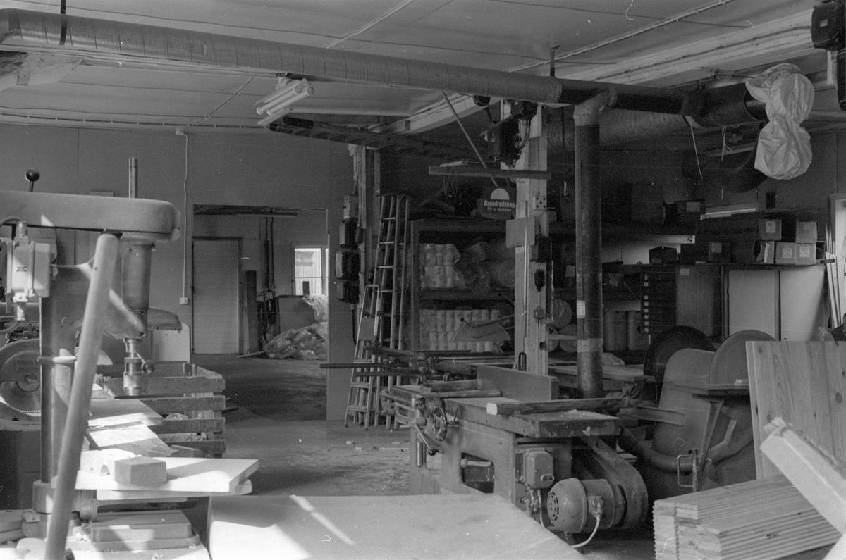 Snickeri, Vattholma bruk, Vattholma, Lena socken, Uppland 1978