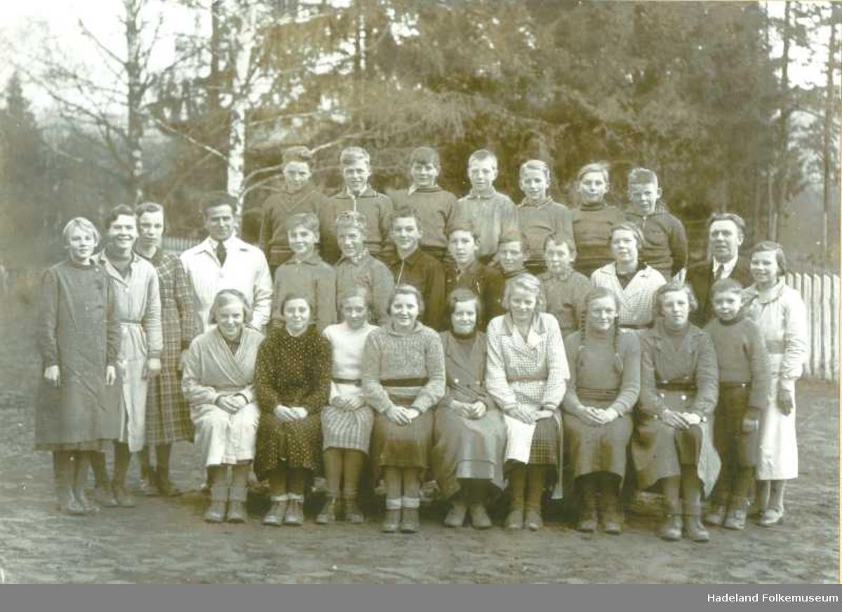 Fagerlund skole 6. klasse 1936, elever og lærere