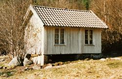 """""""Kapteinens"""" hus på austre Sveindal Grindheim."""