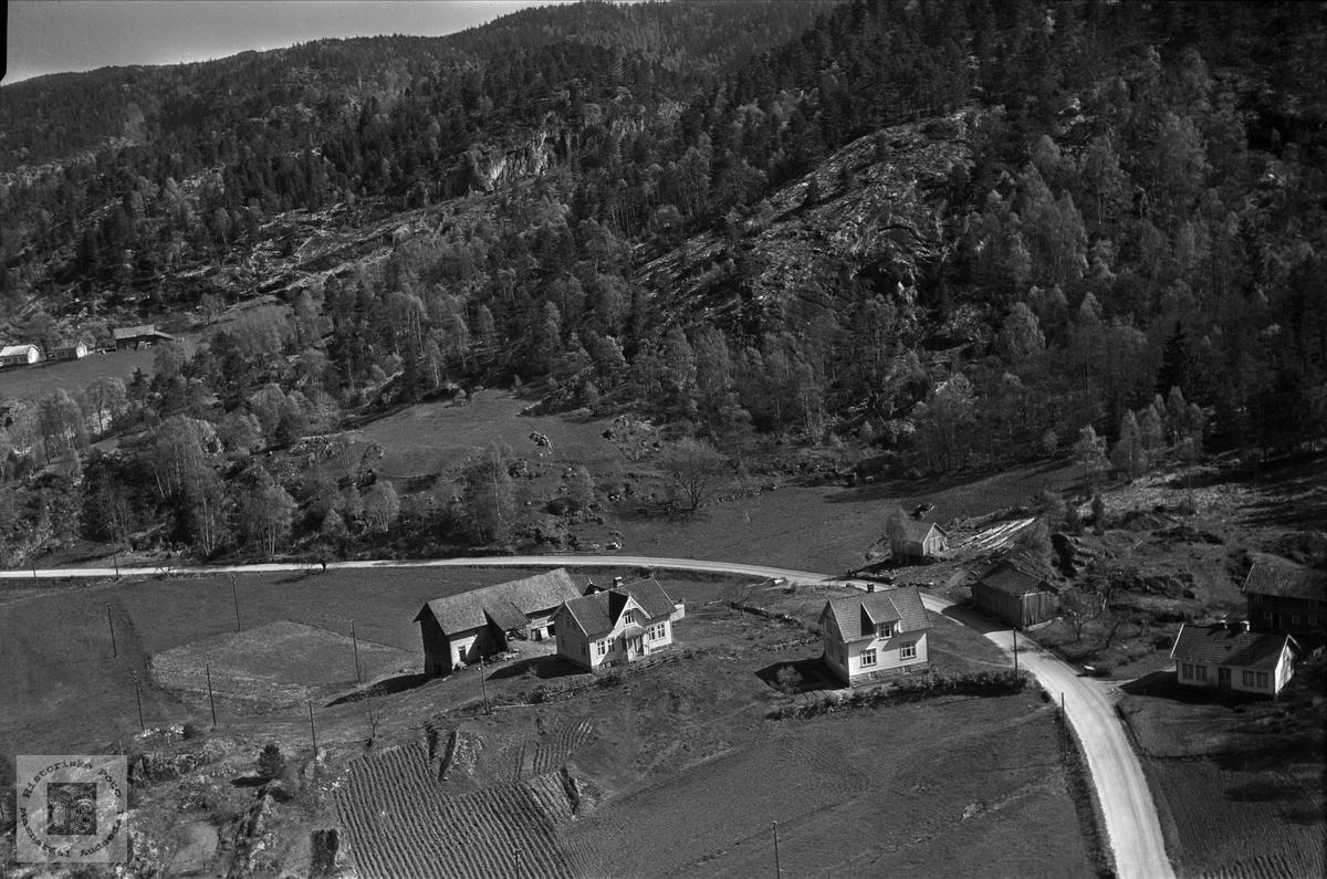 Flyfoto over  Gislefoss,  Audnedal.