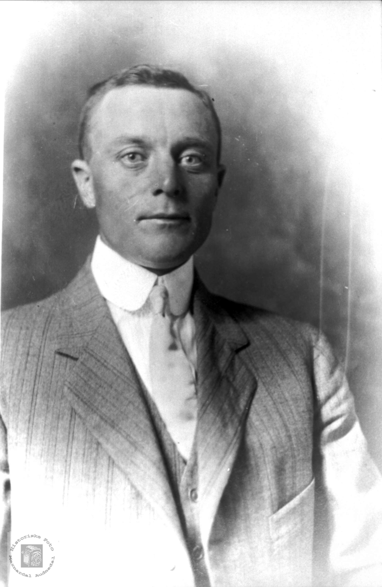 Portrett av Ole Øydne, Audnedal.