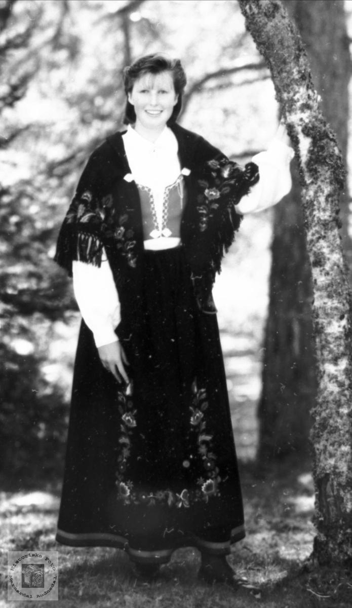Portrett av konfirmant Hjørdis Trygsland, Bjelland.