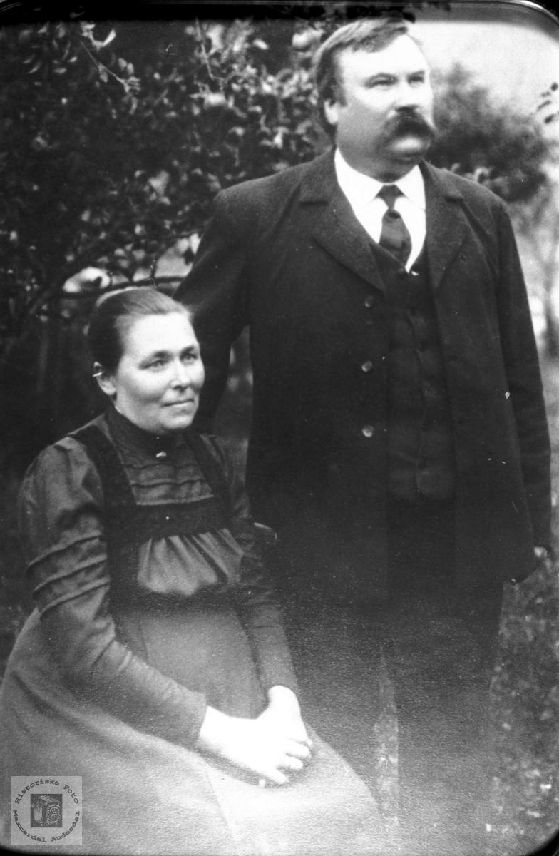 Ekteparet Ranni og Svend Foss. Bjelland.