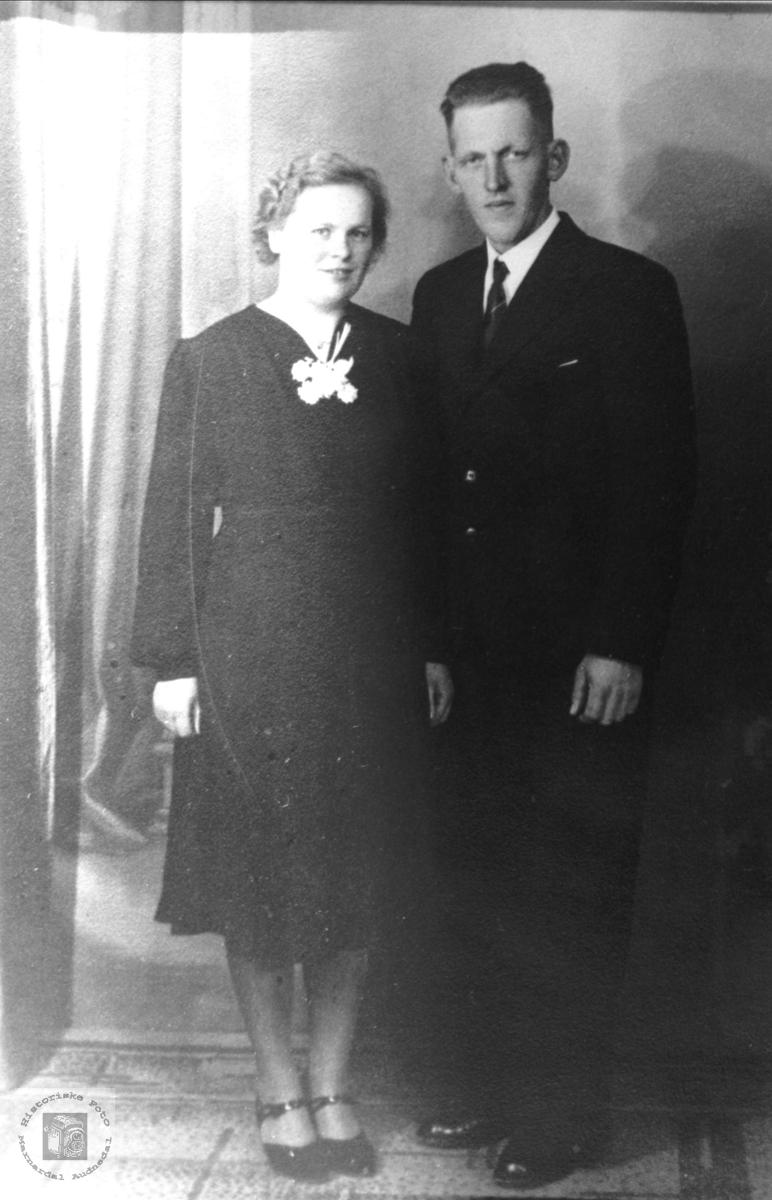 Ekteparet Kari og Nils Emil Greibesland.Bjelland.