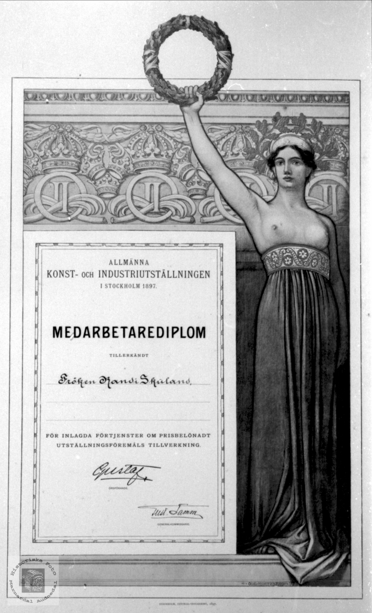 Diplom tildelt Randi Nildtr. Skuland.
