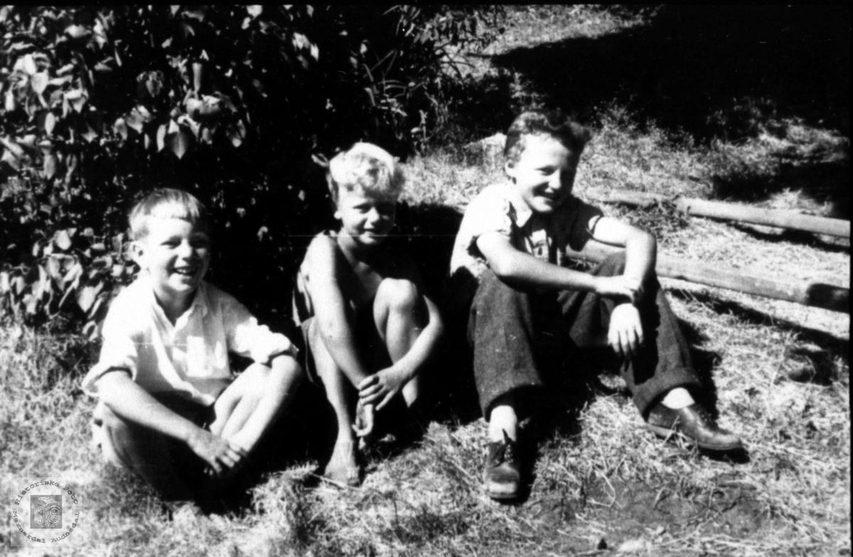 Kamerater. Helge Tisland, Tor Arild Torgersen og Gunnar Laudal.