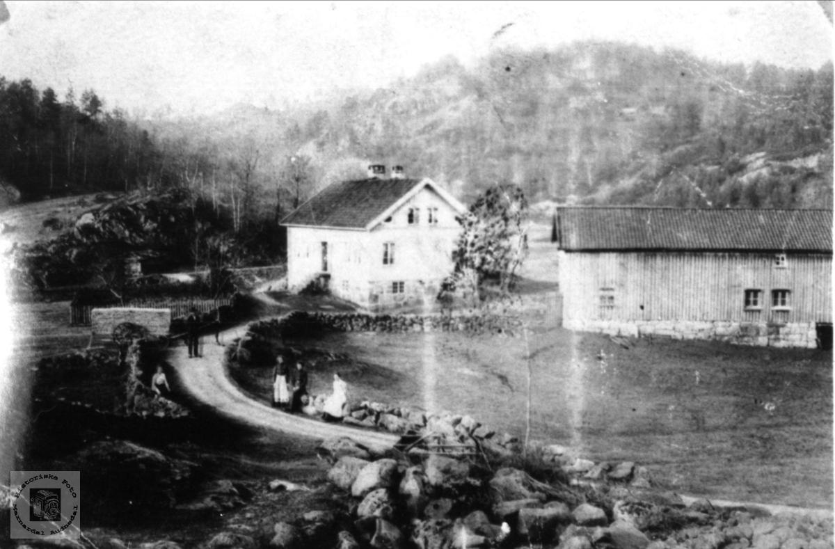 Krossen gård med vegen forbi, Øyslebø.
