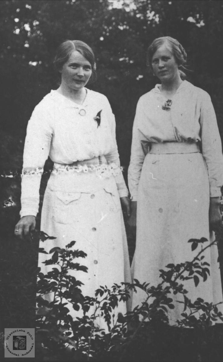 Portrett ukjent og Ingeborg O. Høye, Øyslebø.