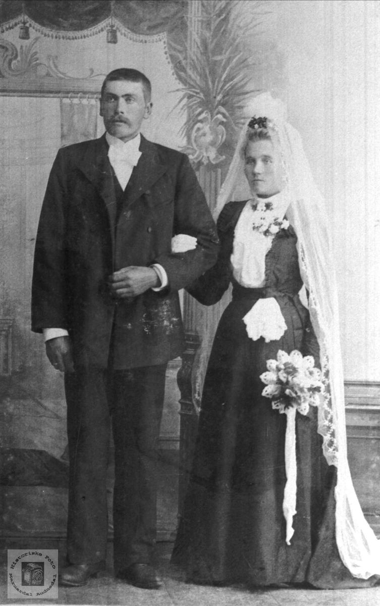 Ekteparet Nikolai Håland og Gurine Hønneland
