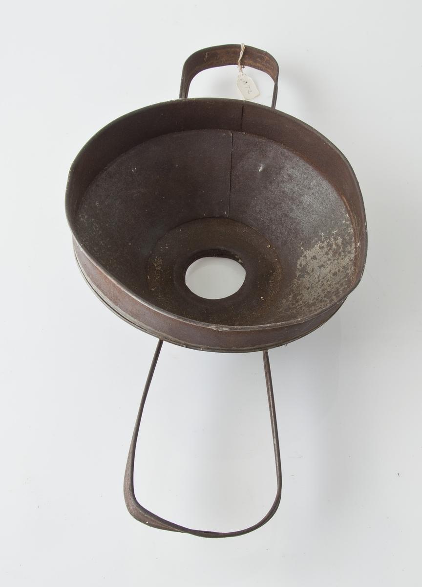 Form: Trakteformet, to buede håndtak