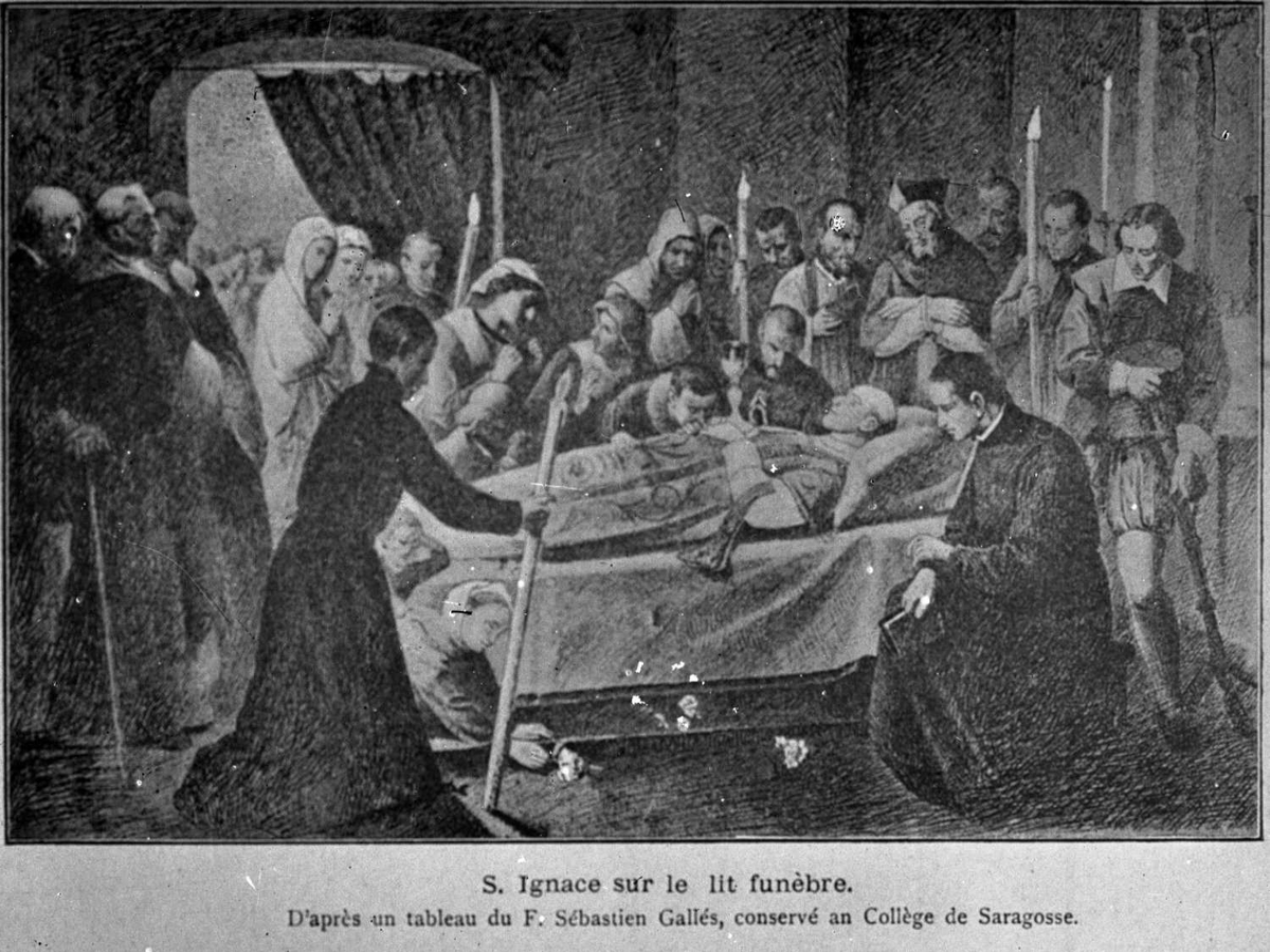 St. Igantius' begravelse