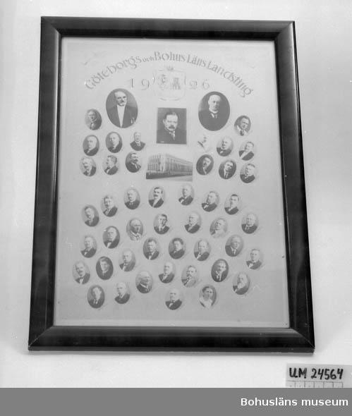 Ramat och grasat gruppfoto föreställande ledamöterna i Göteborgs och Bohusläns landsting 1926. Negativ nr UMFF 3:331.