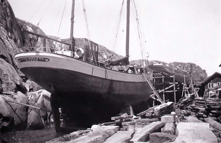 Lord Nelson på slipen i Hälleviksstrand