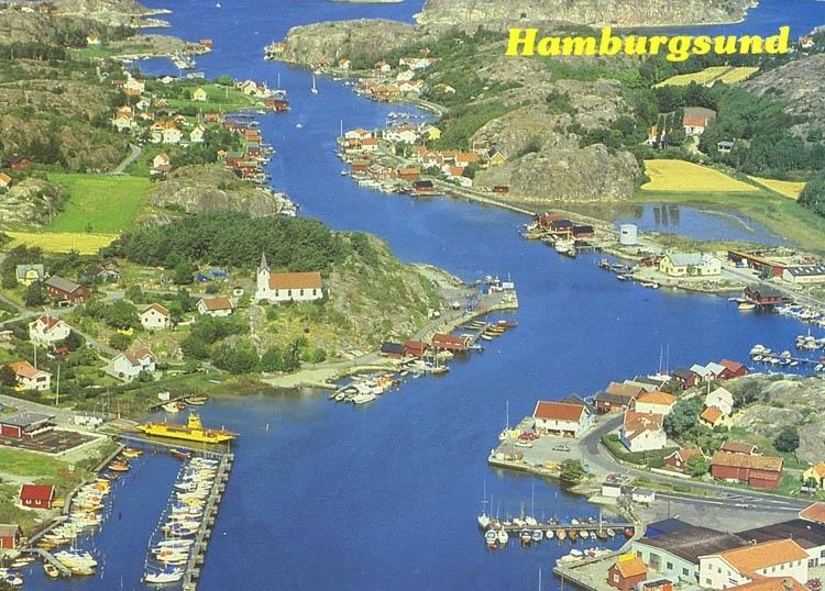 """Flygfoto. Hamburgsund"". ::"