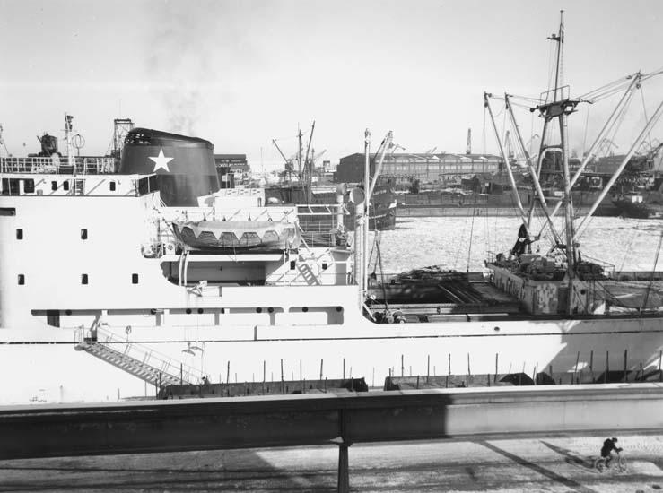 Fartyg 114 M/S Hjördis Thordén klar för leverans.