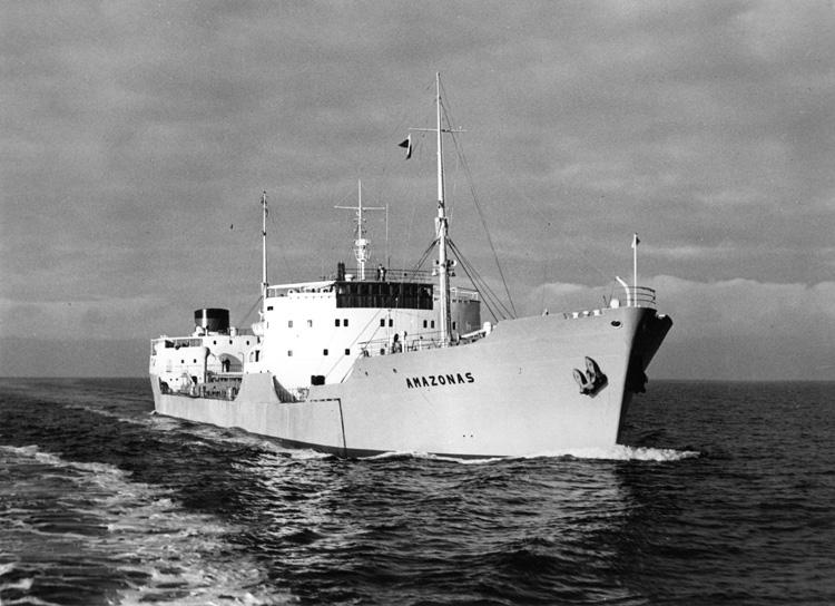 Provtur med fartyg 121 M/T Amazonas inför leverans.