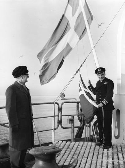 Flaggskifte på fartyget 160 M/T Stanvale.