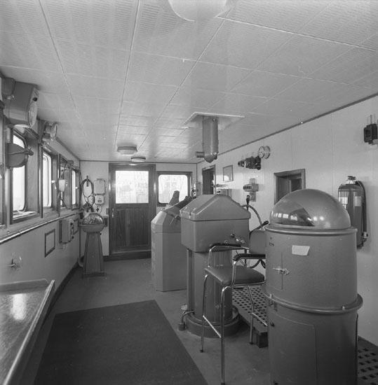 Interiör från fartyg 207 T/T Arnt J. Mörland.