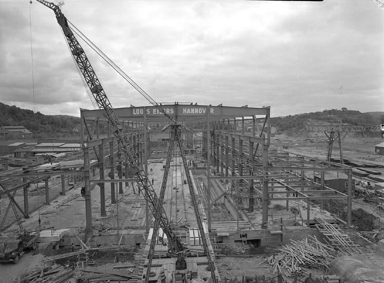 Maskinverkstad under byggnation.
