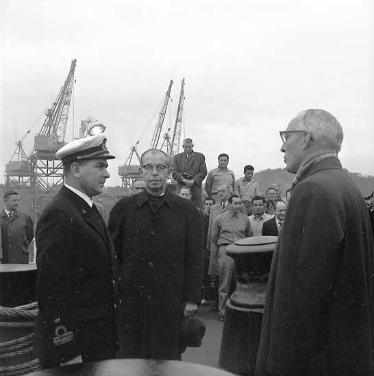 Flaggskifte fartyg 206 T/T William M. Allen. Flaggskiftet sker i samband med överlämningen av fartyget till beställaren.