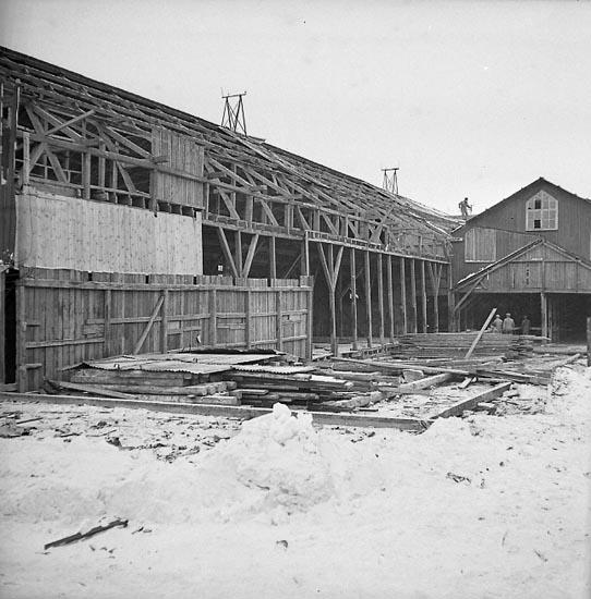 """Enligt notering: """"Rivning (Tändsticksfabrik) 7/3 1947"""