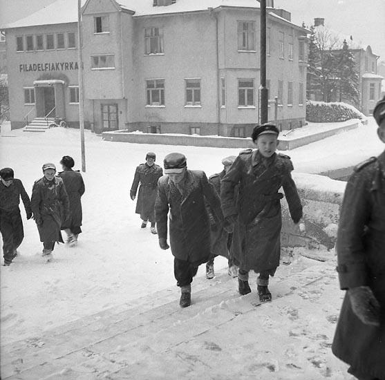 """Enligt notering: """"Upprop i Folkets hus 12/1 1948""""."""
