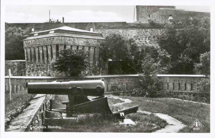 """Vykort: """"Marstrand. Carlstens fästning."""""""