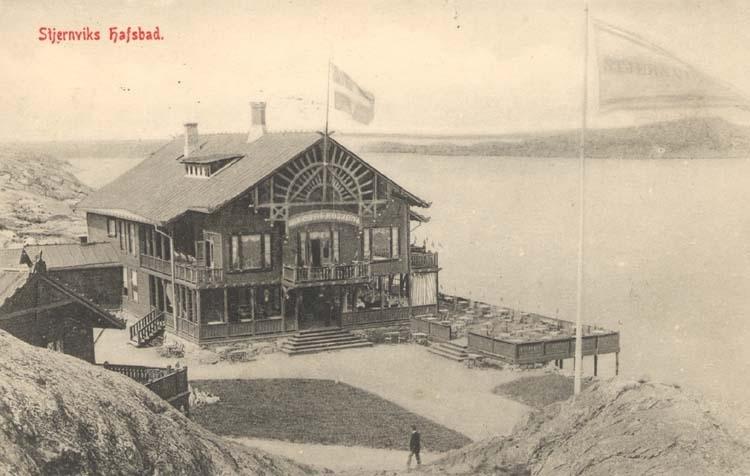 """Tryckt text på kortet: """"Stjernviks Hafsbad."""""""