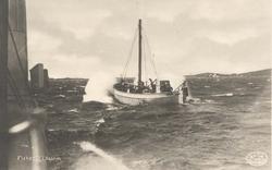 GG 617 ÄRLAN från Fiskebäck går ut i hårt väder
