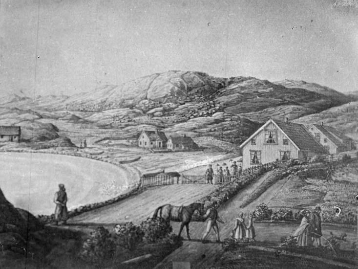 Teckning över Kyrkvik, Lysekil
