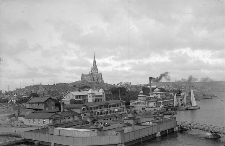 """Enligt text som medföljde bilden: """"Utsikt fr. Släggö 1912."""" ::"""