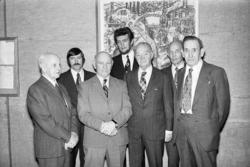 Gruppporträtt med tidigare utrikesminister Torsten Nilsson,