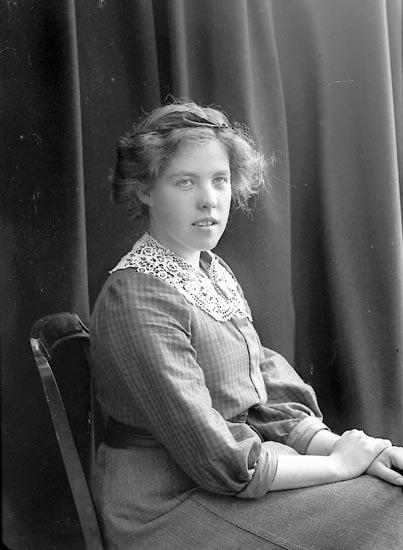 """Enligt fotografens journal nr 1909-1915: """"Christiernin Ella Borås""""."""