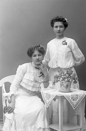 """Enligt fotografens journal nr 1 1904-1908: """"Mattsson, Hilma Stenungsund""""."""