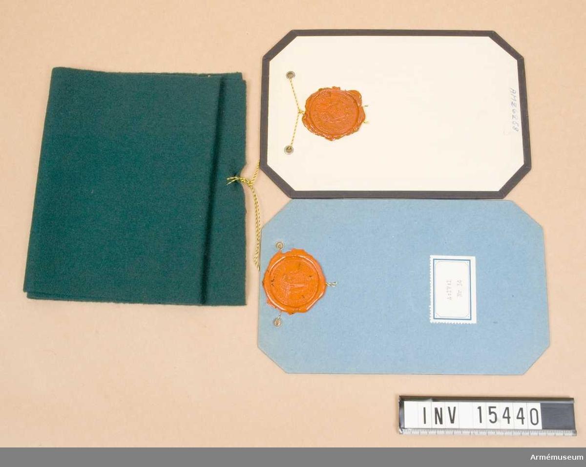 Grupp C I.  Modell å tygfärg (modellfärg) m/1939 grön till passpoal å krage till vapenrock m/1939 och kappa m/1939 för civilmilitär personal. Fastställd 1941-04-04.