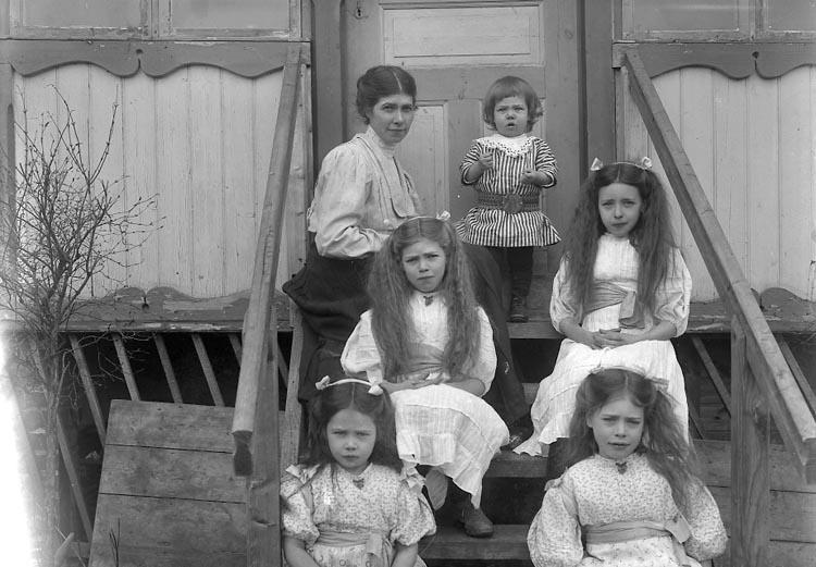 """Enligt fotografens journal nr 2 1909-1915: """"Wåhlström, Fru Olina Stillingsön""""."""