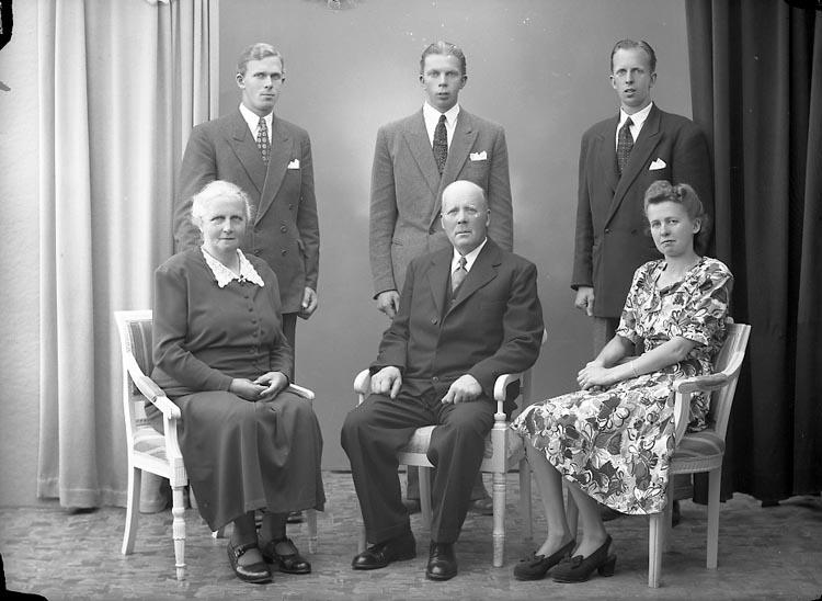 "Enligt fotografens journal nr 7 1944-1950: ""Andersson, Herr Erik Vedkullen Här""."