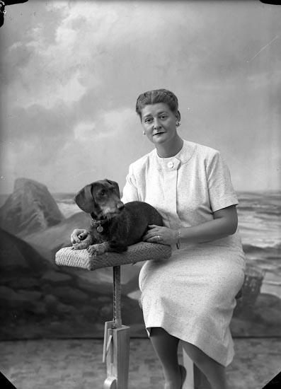 """Enligt fotografens journal nr 8 1951-1957: """"Metcalfe, Fr. Stenungsön""""."""