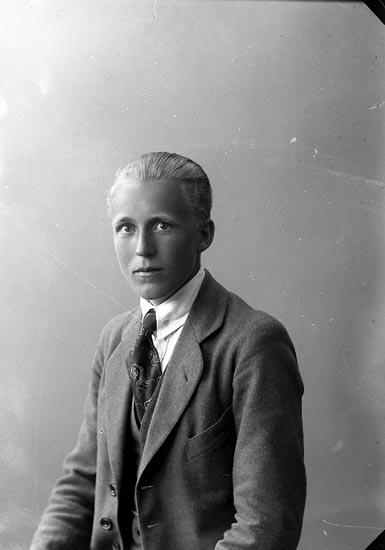 """Enligt fotografens journal nr 4 1918-1922: """"Perslow, Olof Mjöbäck""""."""
