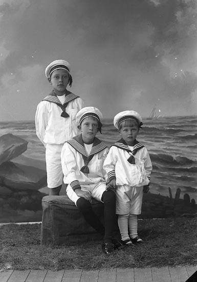 """Enligt fotografens journal nr 2 1909-1915: """"Holmqvist, Håkan Här""""."""