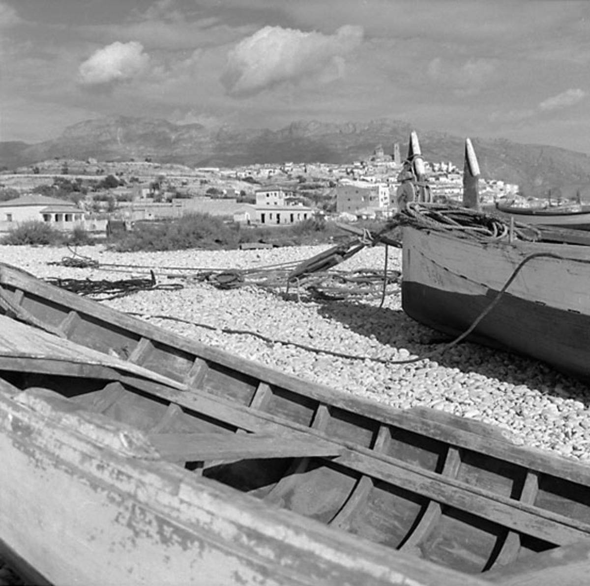 38. Spanien. Fotojournal finns på B.M.A. + fotoalbum. Samtidigt förvärv: Böcker och arkivmaterial. Foton tagna 1959-11-11. 12 Bilder i serie.