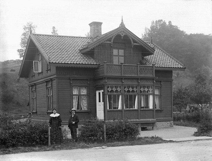 Ett nyuppfört hus i Munkedalsområdet vid 1900-talets början.
