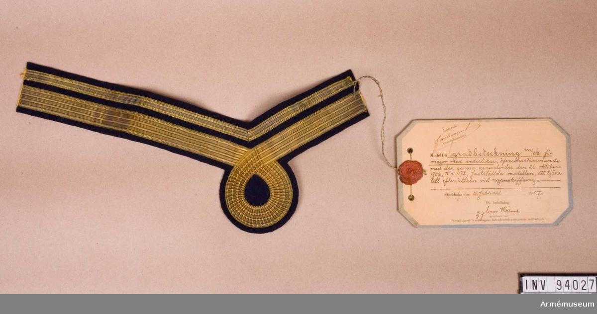 Gradbeteckning m/1906