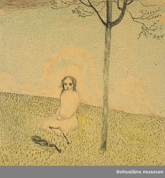 """Montering/ram: Passepartout, """"Nr.2 Ur suiten manen,flickan och kvinnan."""" A.t.216. Jämför RL252 Tillkomstort Björkhöjden, Värmland. För uppgifter om konstnären Ragnar Ljungman, se RL001."""