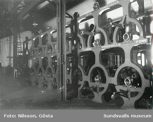 Sundsvall förenade verkstäder. Interiör.