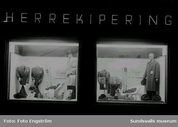 Skyltfönster, Herrekipering.